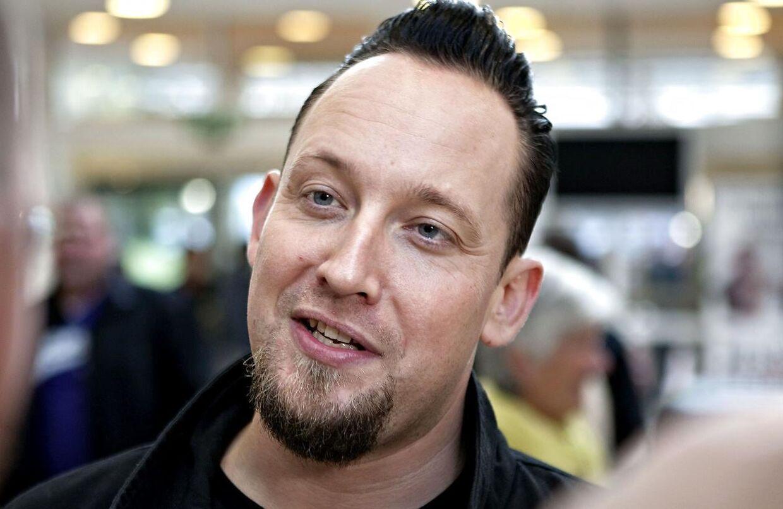 Her ses Michael Poulsen fra Volbeat.