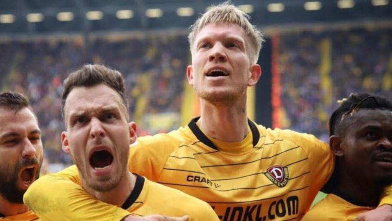 Makienok nåede at score et mål for Dresden, inden corona lukkede 2. Bundesligaen ned.