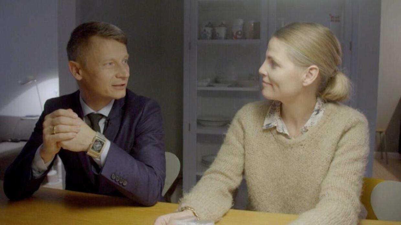 Rasmus Just og hustru i TV 2-programmet 'Min sindssygt sunde familie'.