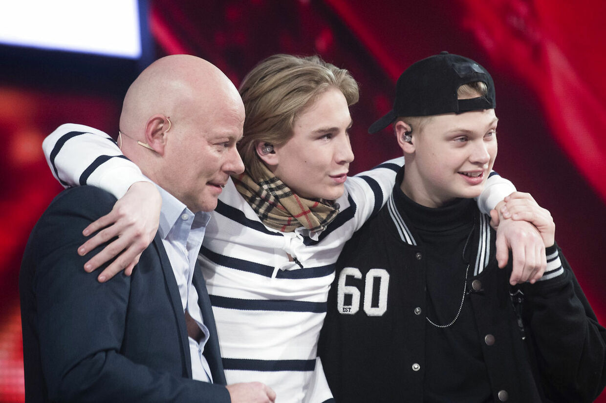 Citybois med Thomas Blachman under 'X Factor' i 2015.