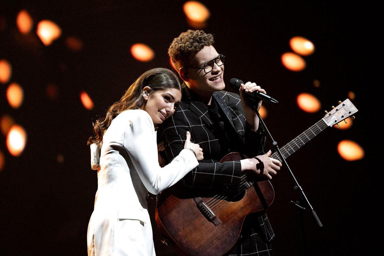 Vinderne af Dansk Melodi Grand Prix 2020, Ben & Tan, med sangen 'Yes'.