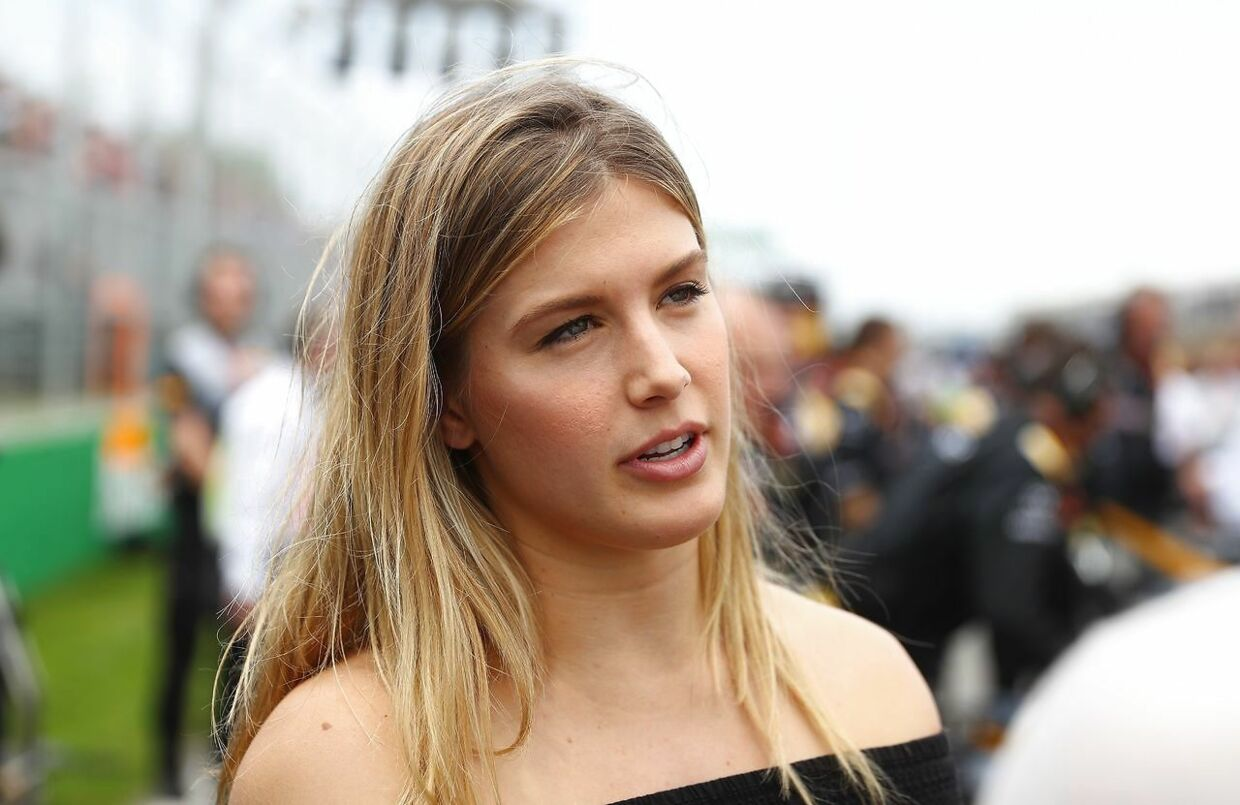 MONTREAL, QC - JUNE 11: Tennis player Genie Bouchard of Canada on the grid during the Canadian Formula One Grand Prix at Circuit Gilles Villeneuve on June 11, 2017 in Montreal, Canada. Clive Mason/Getty Images/AFP == FOR NEWSPAPERS, INTERNET, TELCOS & TELEVISION USE ONLY ==