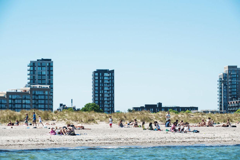 Billede fra Amager Strandpark en sommerdag. De kommende dage byder på sol og op til 21 graders varme. Og netop Amager Strandpark er et af stederne med særlig fokus fra politiets side. (Foto: Ida Marie Odgaard/Scanpix 2017)