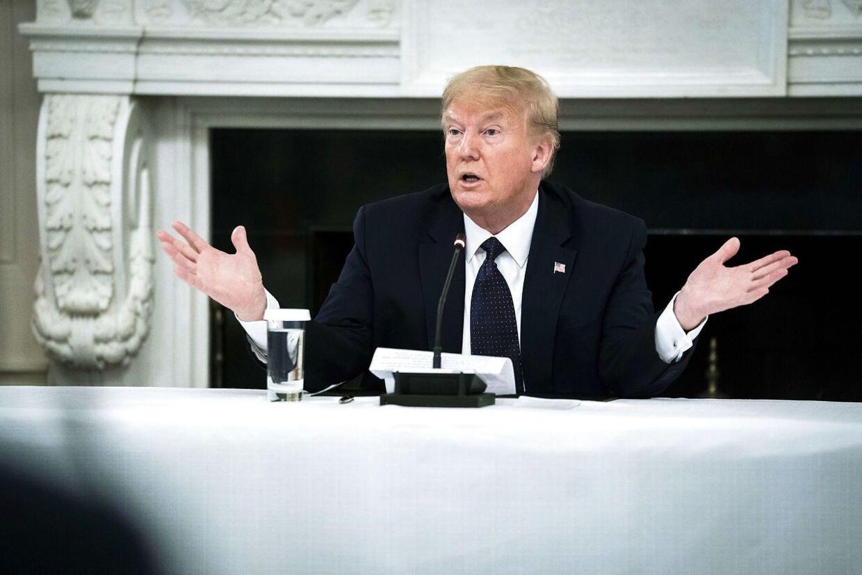 """Præsidenten har i mere end en uge taget malariamedicn forebyggende mod coronavirus. Beslutningen er truffet efter """"adskillige diskussioner"""" med hans læge. Arkivfoto."""