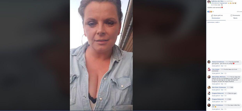 Screendump fra en af Kathrine Joni Skovs livestreams.
