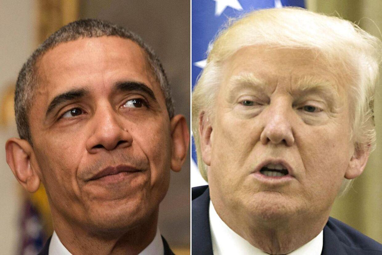 Luften imellem Barack Obama og hans efterfølger Donald Trump er iskold.