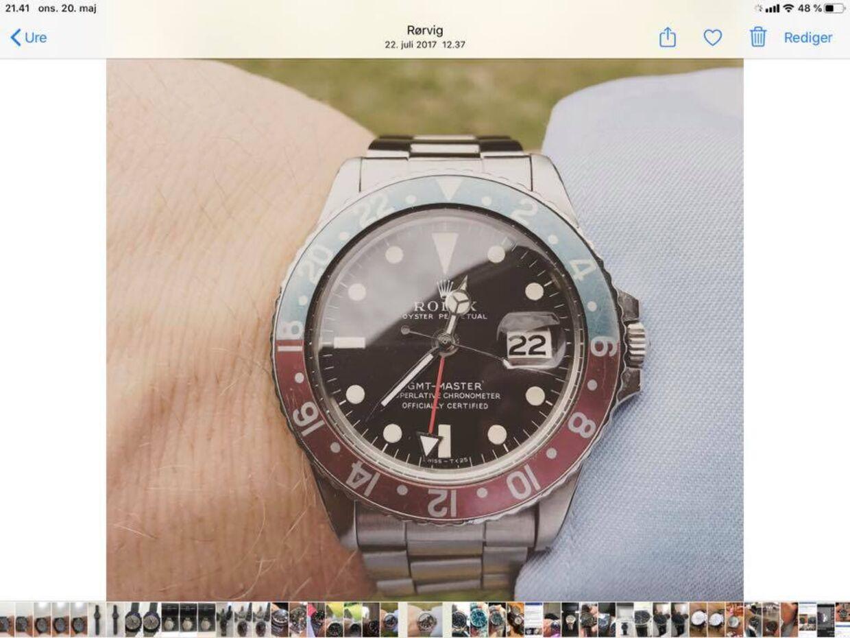 Rolex-uret, som Niels Pinborg har fået stjålet, er fra 1969 og kunne med den rette køber have indbragt ham 100.000 kroner, vurderer han.