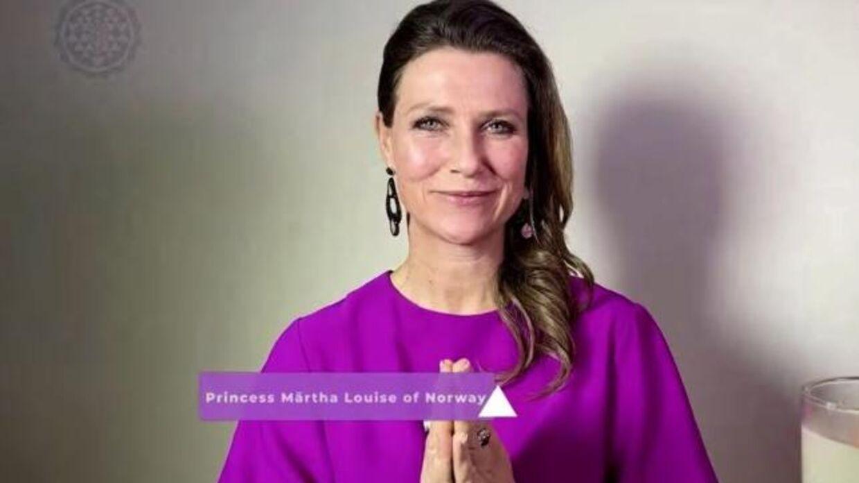 Prinsesse Märtha Louise af Norge' lød titlen på skærmen, da den norske prinsesse var live igennem.