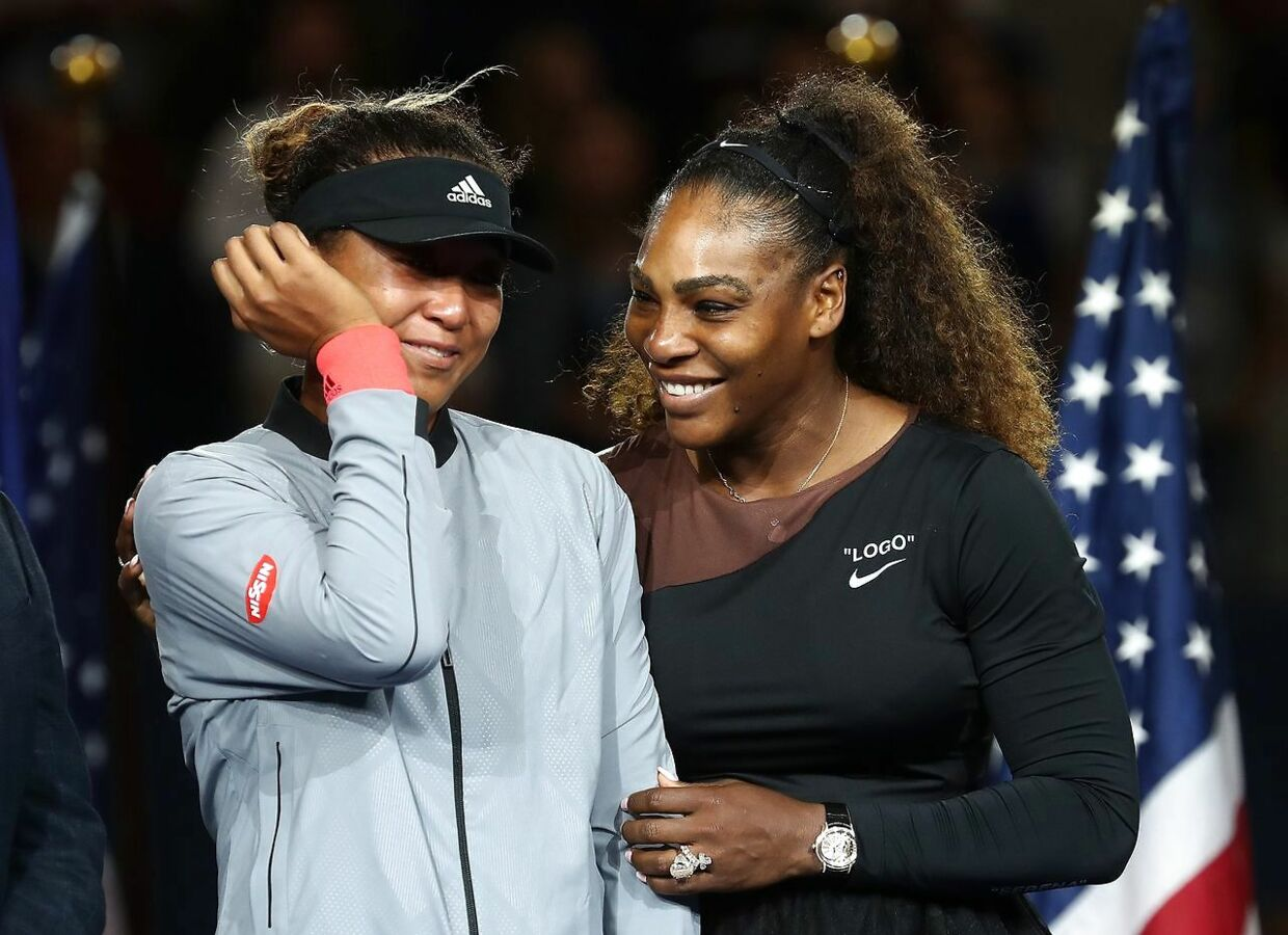 NEW YORK, NY - SEPTEMBER 08: Naomi Osaka of Japan after winning the Women's Singles finals match alongside runner up Serena Williams of the United States on Day Thirteen of the 2018 US Open at the USTA Billie Jean King National Tennis Center on September 8, 2018 in the Flushing neighborhood of the Queens borough of New York City. Julian Finney/Getty Images/AFP == FOR NEWSPAPERS, INTERNET, TELCOS & TELEVISION USE ONLY ==