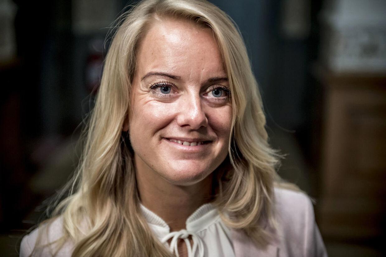 Nye Borgerliges formand Pernille Vermund har god grund til at smile over de mange kommentarer og 'likes' efter seneste opslag på Facebook. (Foto: Mads Claus Rasmussen/Ritzau Scanpix)