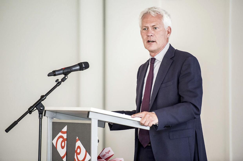 Administrerende direktør i Kræftens Bekæmpelse, Jesper Fisker, holder tale. (Foto: Mads Claus Rasmussen/Ritzau Scanpix)