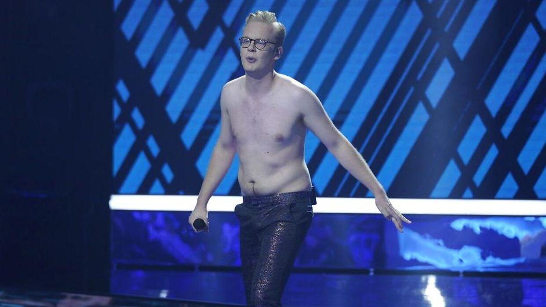 Emil Wismann smed skjorten under lørdagen finale.