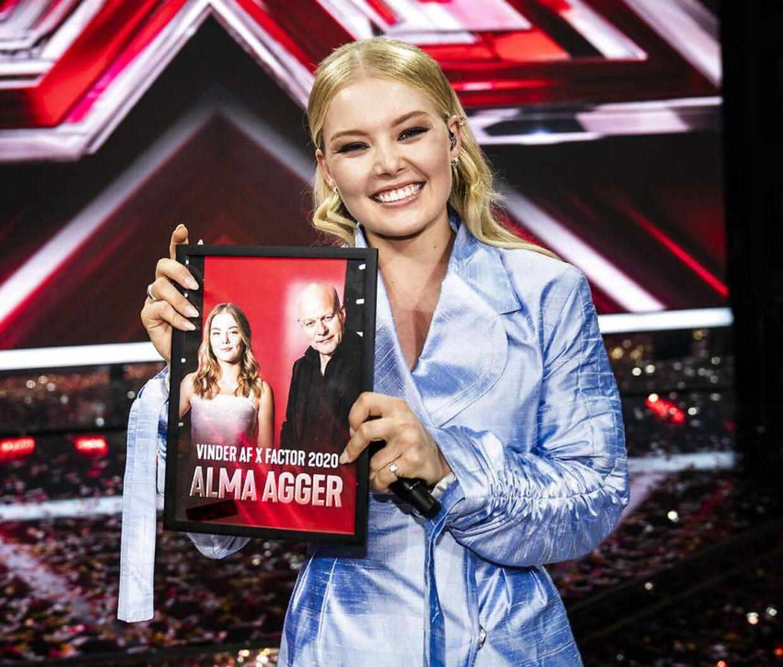 Alma Agger vinder' X Factor' 2020.