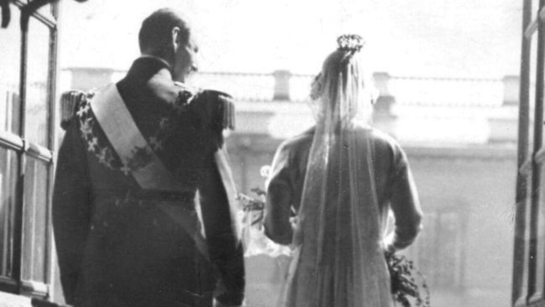 ARKIVFOTO fra brylluppet mellem svenske prinsesse Ingrid og danske kronprins Frederik i 1935.