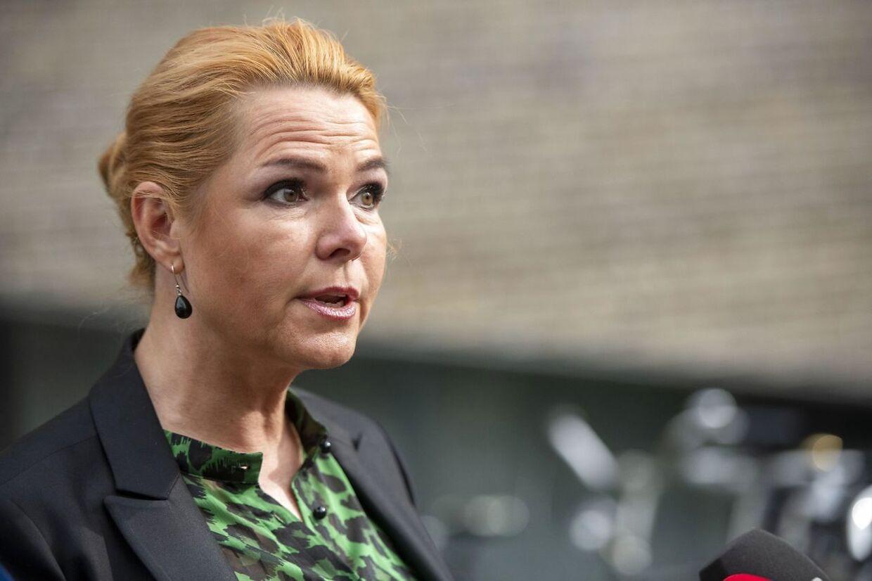 Forhenværende minister Inger Støjberg (V) afhøres af Instrukskommissionen, søndag den 24. maj 2020.