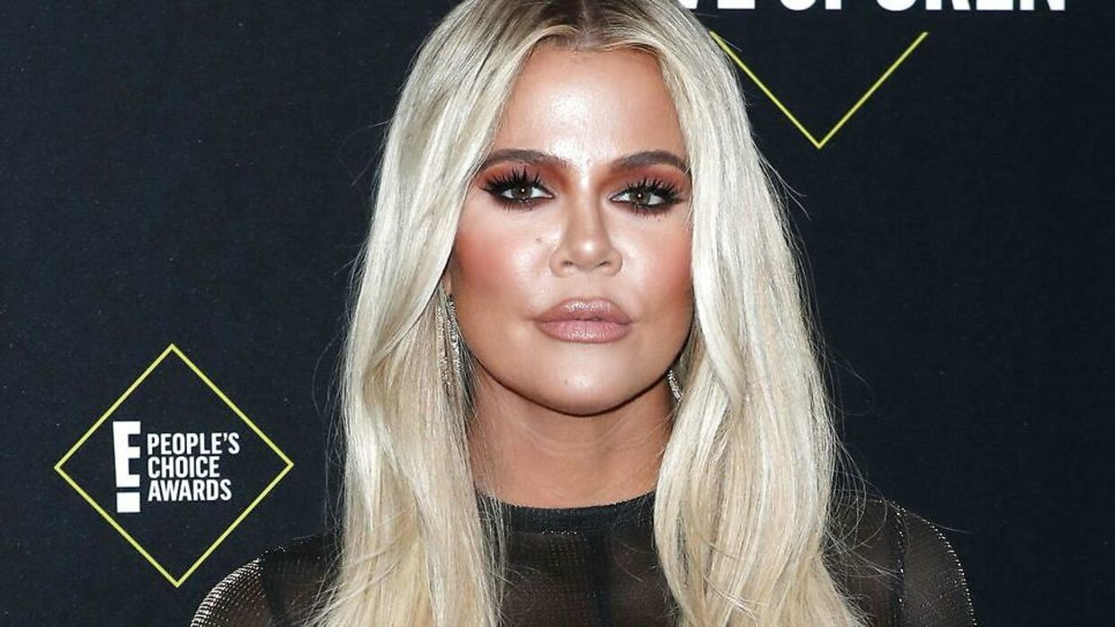Da Khloe Kardashian mødte op ved People's Choice Awards i november 2019. EPA/NINA PROMMER