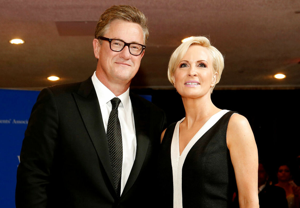 FILE PHOTO: MSNBC's Joe Scarborough and Mika Brzezinski arrive for the annual White House Correspondents' Association dinner in Washington, U.S. on April 25, 2015. REUTERS/Jonathan Ernst/File Photo