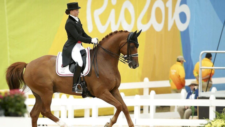 Cathrine Dufour og Atterupgaards Cassidy under OL i Rio i 2016.