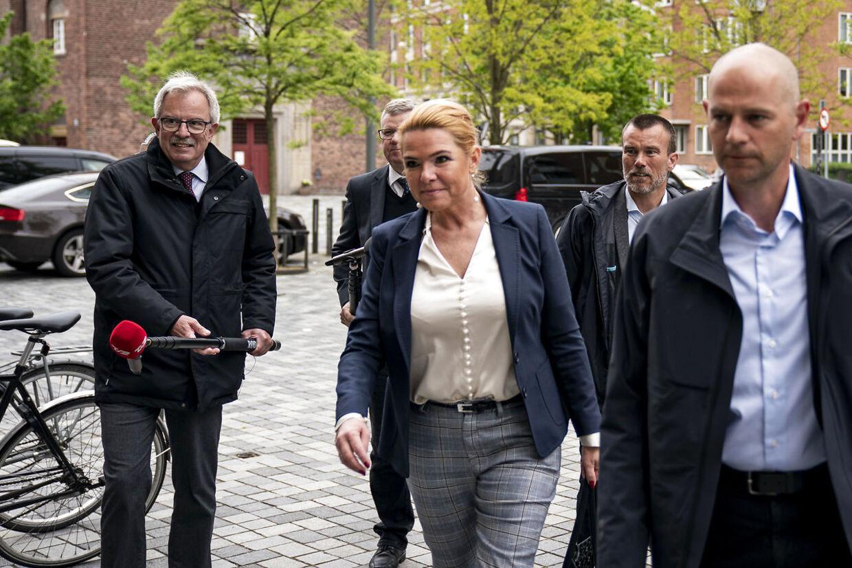 Forhenværende minister Inger Støjberg ankommer til Retten på Frederiksberg, hvor instrukskommissionen fortsætter afhøringer, mandag den 25. maj 2020.. (Foto: Niels Christian Vilmann/Ritzau Scanpix)
