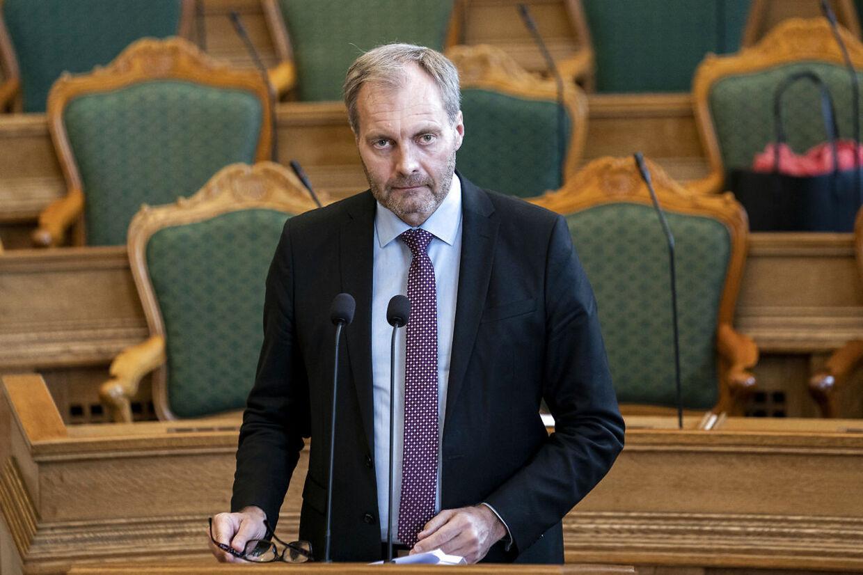 Dansk Folkepartis Peter Skaarup til ministrenes spørgetid i Folketingssalen, onsdag den 6. maj 2020.. (Foto: Niels Christian Vilmann/Ritzau Scanpix)