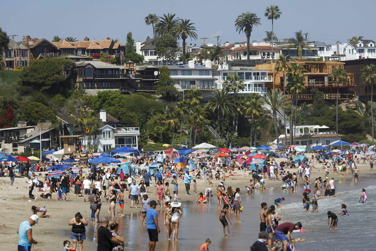 Newport Beach i weekenden, Californien.