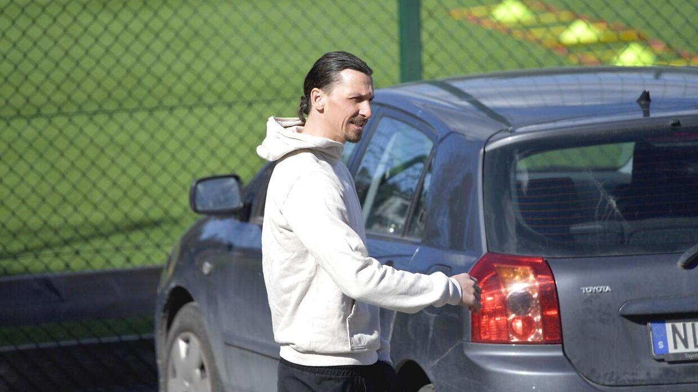 Zlatan blev skadet under træning.