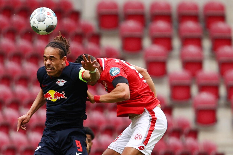 Yussuf Poulsen rundede søndag 250 kampe for RB Leipzig. (Arkivfoto) Kai Pfaffenbach/Ritzau Scanpix