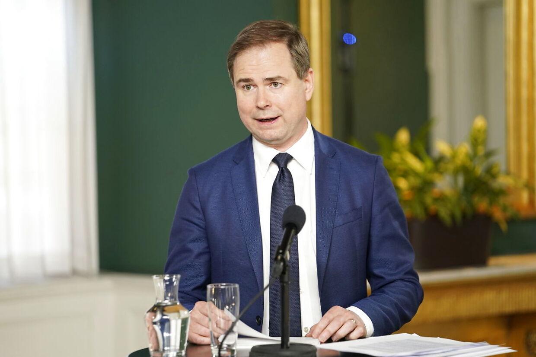 Finansminister Nicolai Wammen (S) præsenterer Økonomisk Redegørelse ved et pressemøde i Finansministeriet tirsdag den 26. maj.