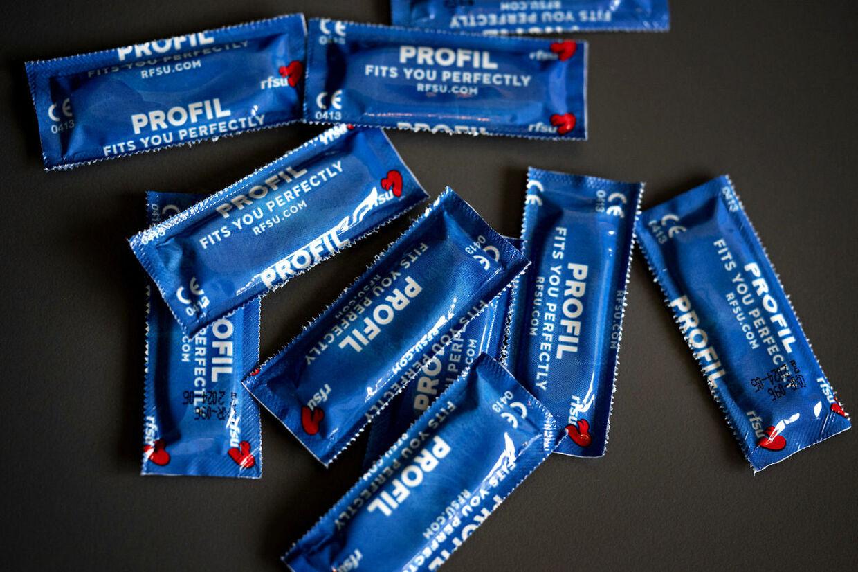Kondomer, prævention, København, søndag den 23. februar 2020.