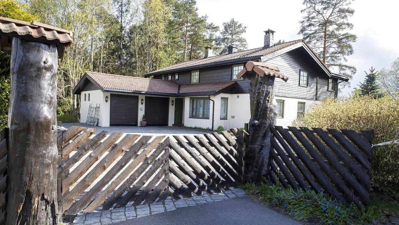 Huset på Sloraveien i Lørenskog lidt uden for Oslo, hvor ægteparret Hagen boede sammen, indtil Anne-Elisabeth Hagen forsvandt sporløst i oktober 2018.