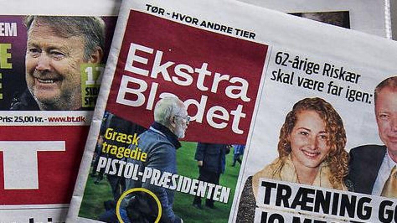 Arkivfoto af Ekstra Bladets forside
