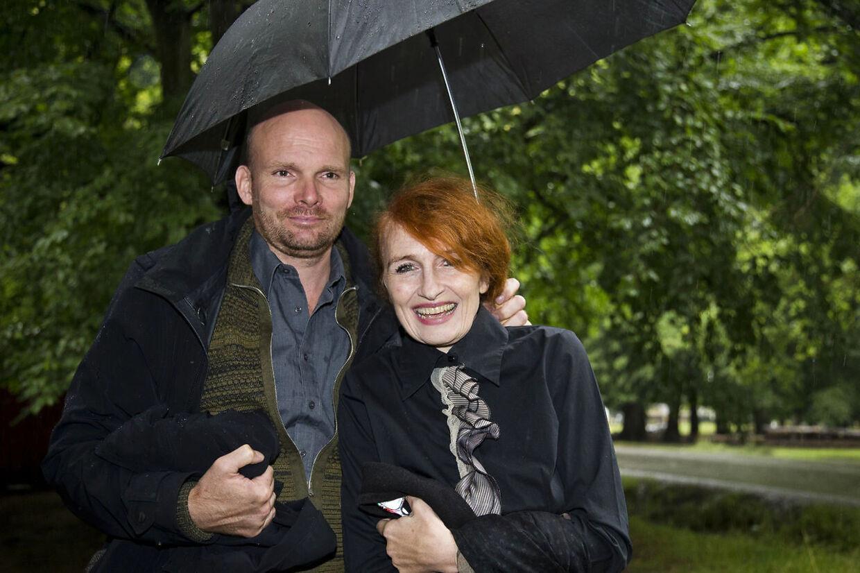 Bodil Jørgensen med sin mand Morten Søborg.