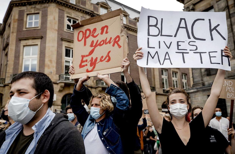 De demonstrerede mod racisme som den, der kostede amerikaneren George Floyd livet.