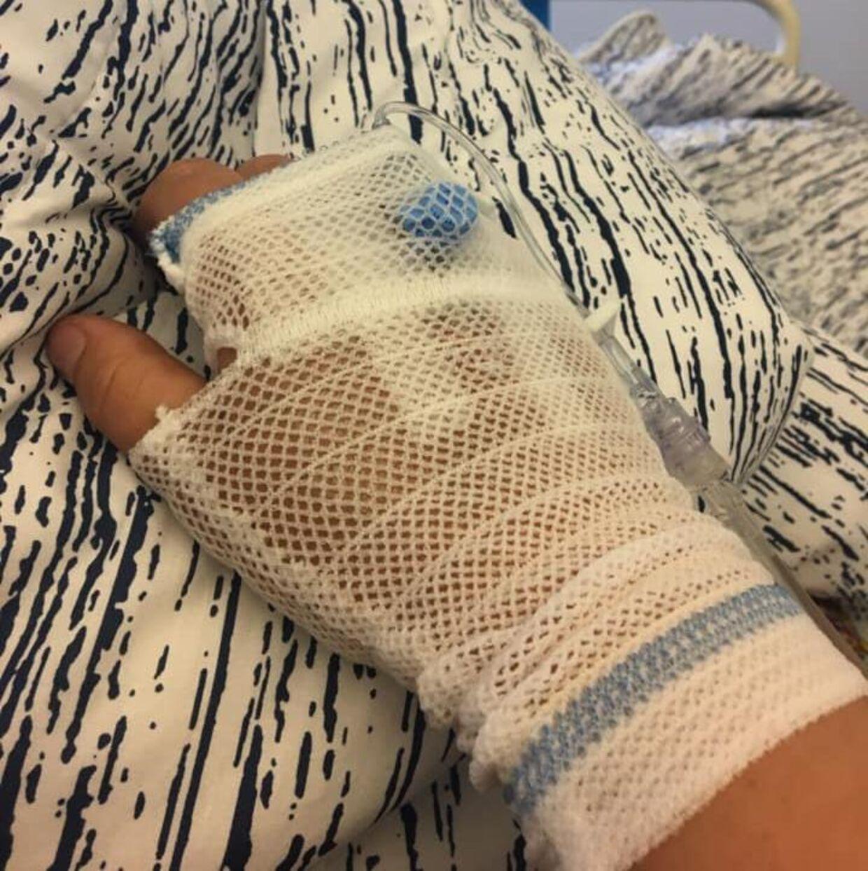 Marie på sygehuset mandag.
