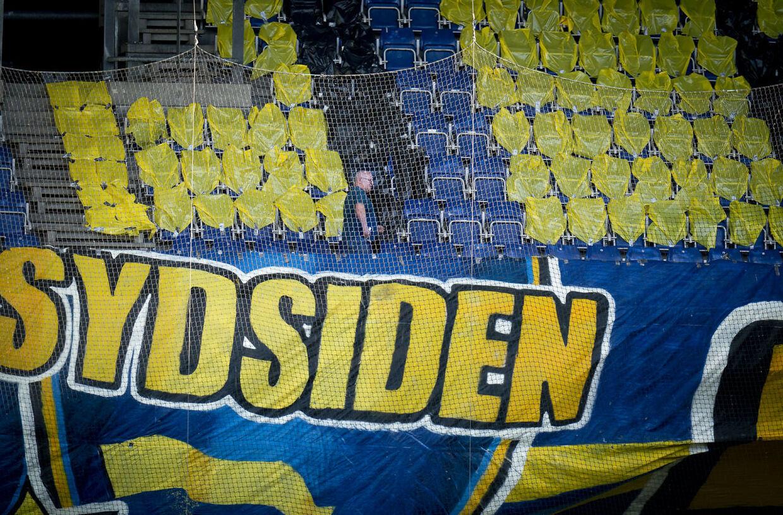 Tilskuerepladserne under 3F Superligakampen mellem Brøndby IF - SønderjyskE på Brøndby Stadion tirsdag den 2. juni 2020.