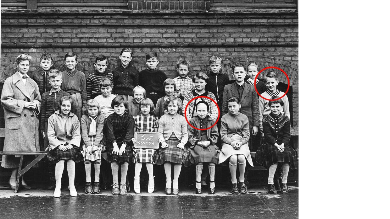 Klassebillede fra 1955, hvor Keld og Hilda gik i 3. klasse og Keld i et år havde været forelsket i Hilda.