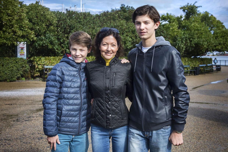 Alexandra, prins Nikolai og prins Felix til Ecco Walkathon i 2015.