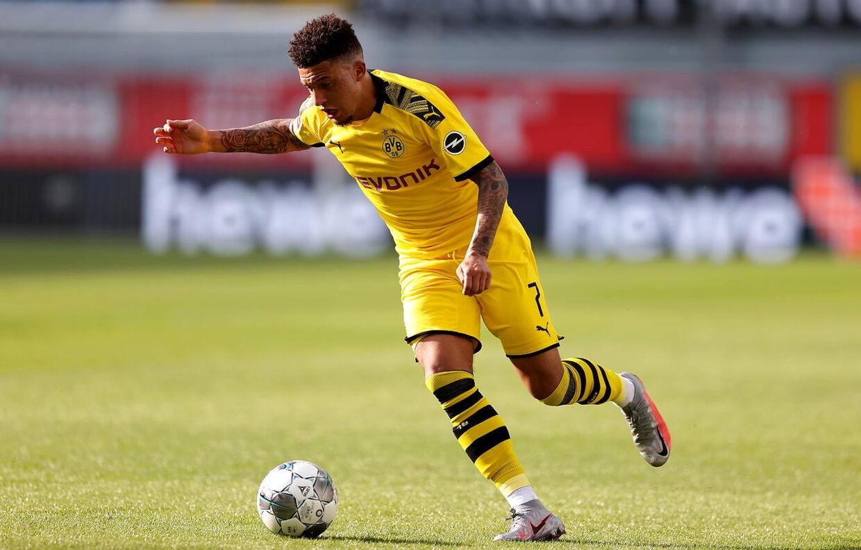 Jadon Sancho i aktion mod SC Paderborn, hvor han scorede tre mål.