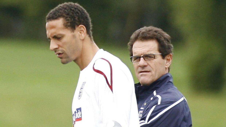 Ferdinand og Capello i 2010.