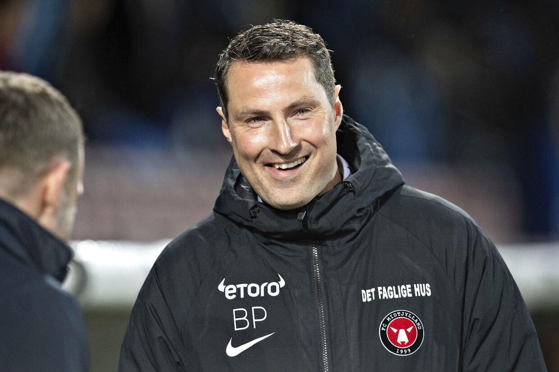 Cheftræner i FCM Brian Priske har angiveligt takket nej til et stort job i belgisk fodbold.