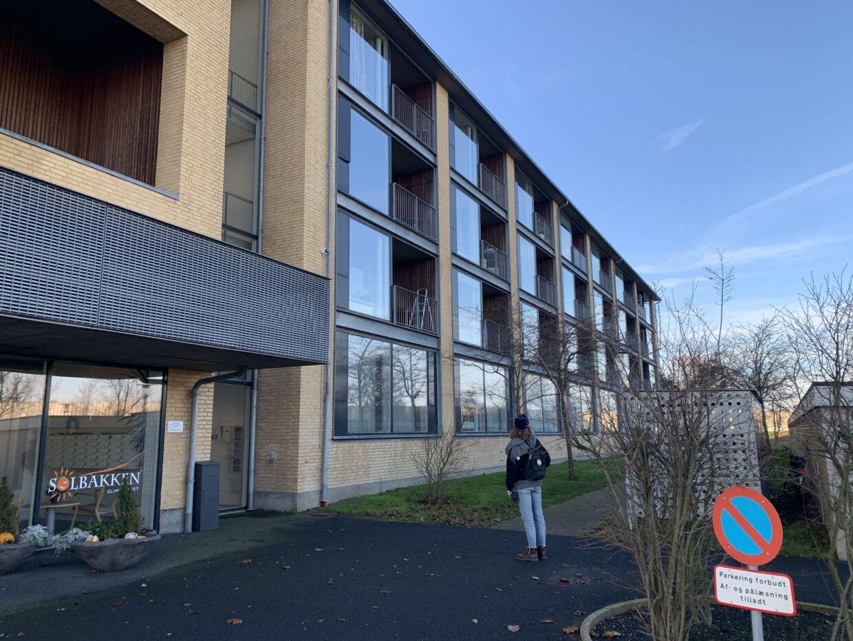 Bygningen, hvorfra en beboer på en institution har hørt et skrig den nat, Emilie Meng forsvandt.