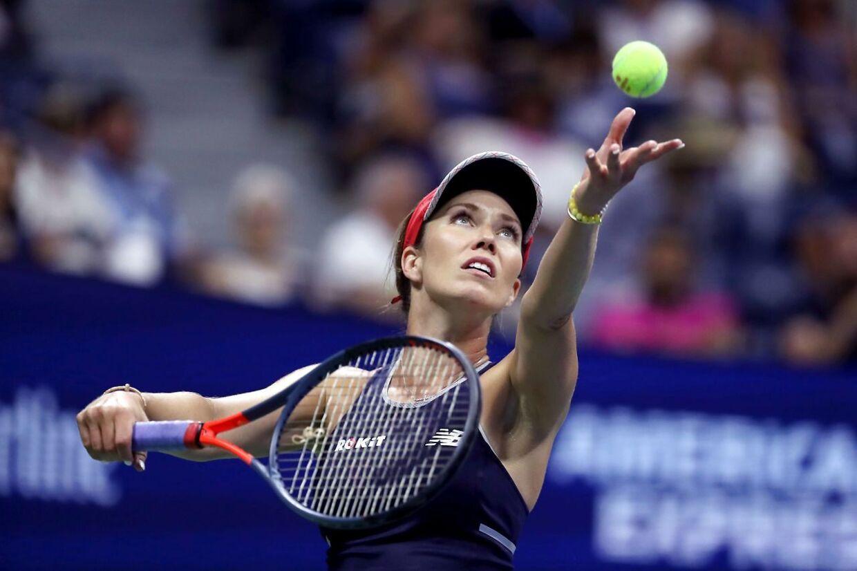 Danielle Collins i aktion ved US Open i 2019.