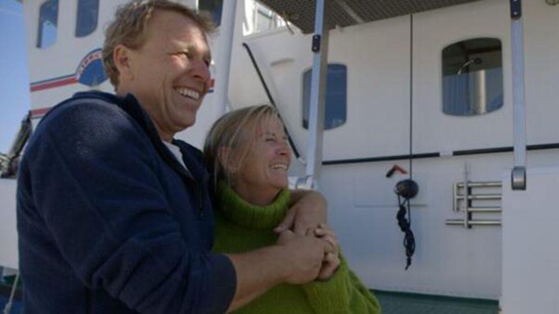 Mikkel Beha og hans hustru, Marian Midé Erichsen, ombord på Wallenberg.