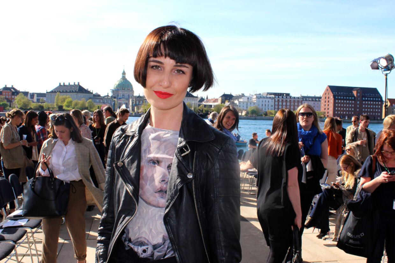 BT mødte supermodellen Erin O'Connor til det grønne topmøde Copenhagen Fashion Summit, hvor O'Connor var en af værterne.