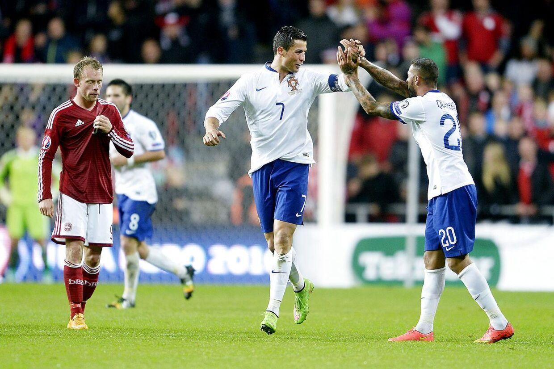 Ronaldo afgjorde kampen mod Danmark med et mål i overtiden.