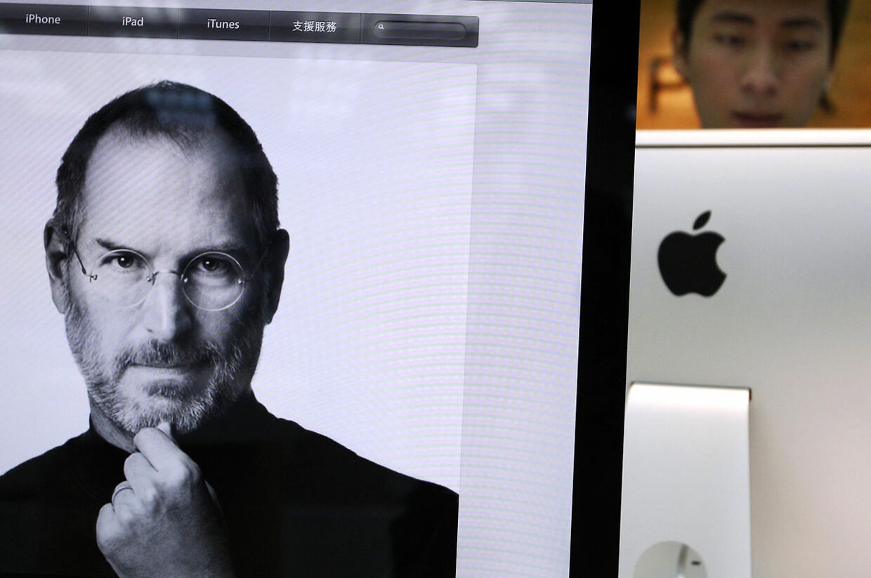 En Apple-butik mindes den legendarisk leder efter hans død.