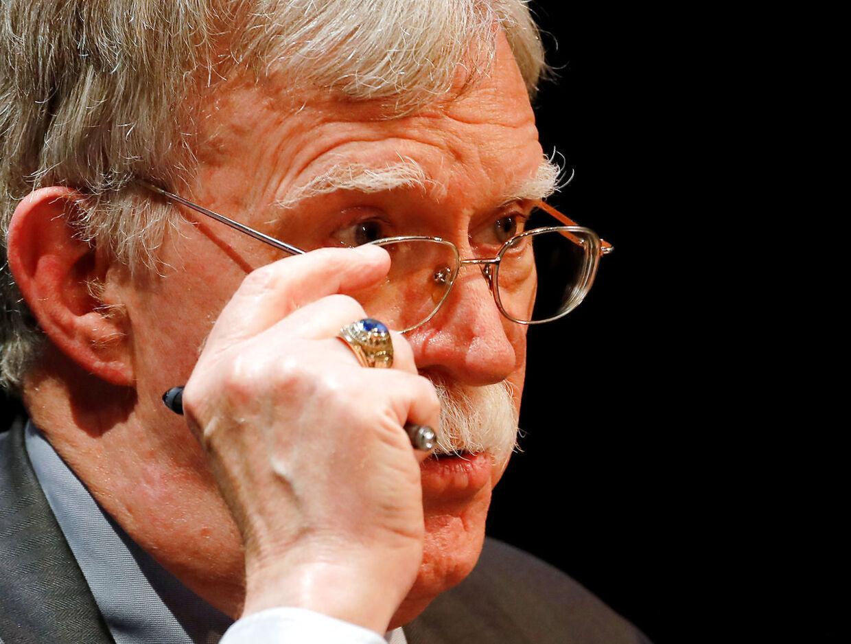 Den tidligere nationale sikkerhedsrådgiver John Bolton udgiver snart en bog om sin tid i Trump-administrationen. (Arkivfoto)