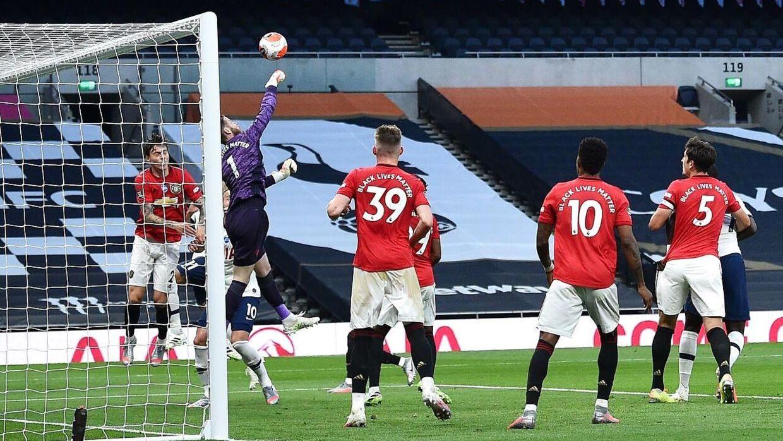 David de Gea og Harry Maguire så ikke gode ud ved Tottenhams mål.