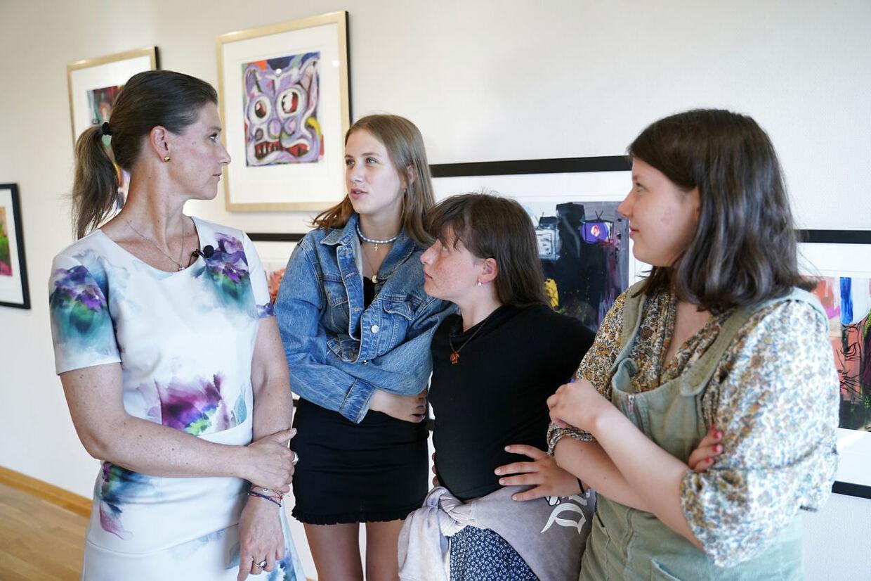 Prinsesse Märtha Louise med børnene Leah, Emma og Maud Angelica.