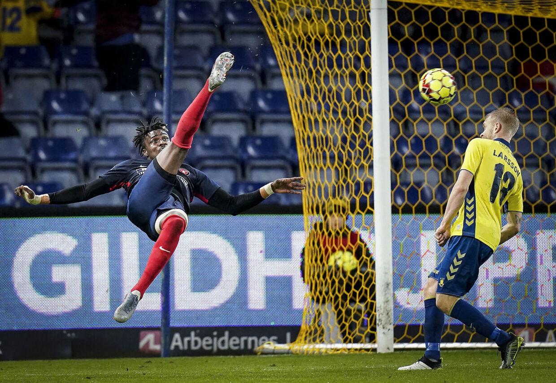 FC Midtjyllands Sory Kaba har scoret 5 mål og lagt op til 3 i 23 Superliga-kampe (Foto: Liselotte Sabroe/Ritzau Scanpix)